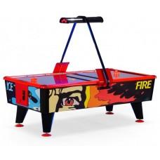 Аэрохоккей «Ice & Fire» 8 ф (238 х 128 х 83 см, черно-красный, купюроприемник)